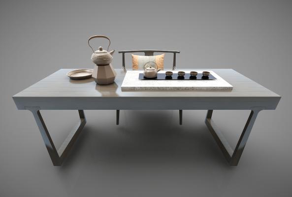 新中式风格茶桌