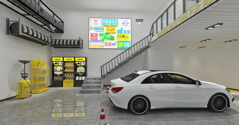 现代风格4S店 汽车维修店
