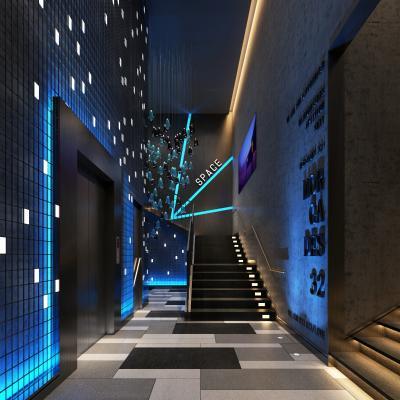 现代酒店楼梯 电梯