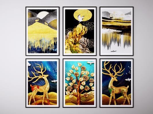北欧现代装饰画 挂画