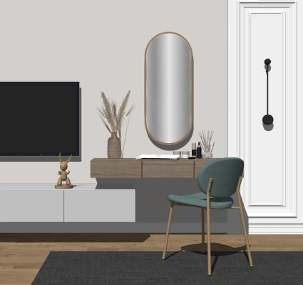 现代风格妆台 妆椅组合