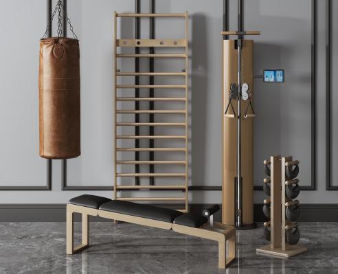 现代健身器材组合