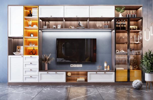 北欧电视背景装饰柜 装饰品 摆件