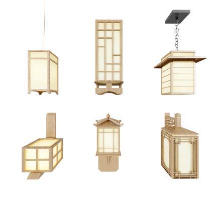 日式吊灯壁灯落地灯