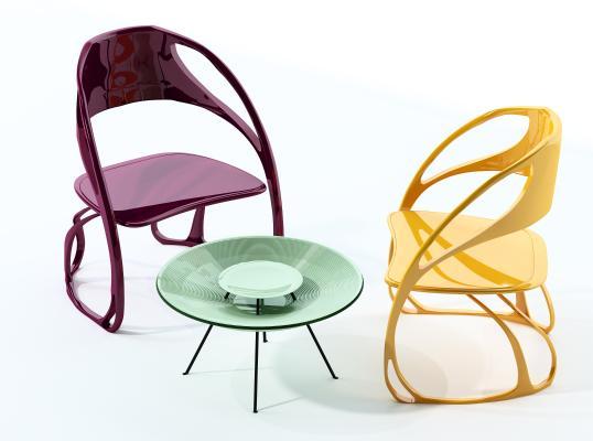 现代休闲桌椅组合