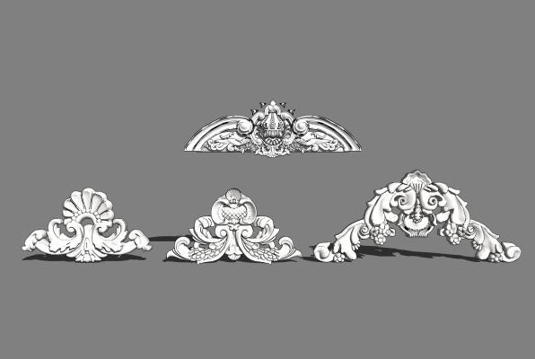 欧式石膏雕花组合