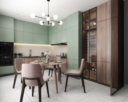 现代厨房 橱柜 厨房用品