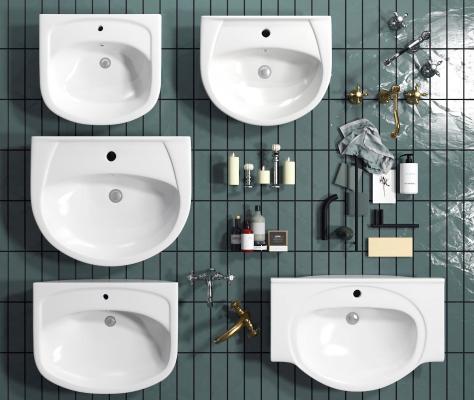 现代洗脸盆组合