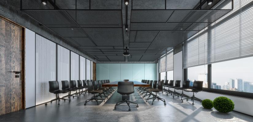 工业风会议室