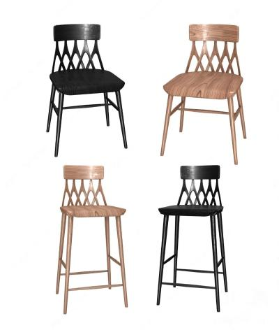 Hans K 北欧餐椅 吧椅组合