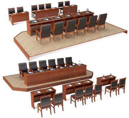 现代会议桌椅 主席台