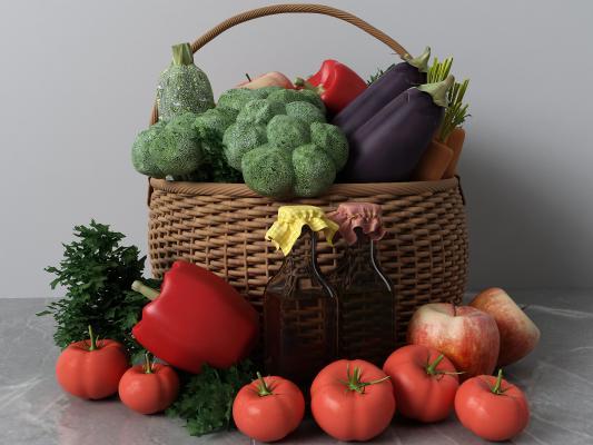 现代蔬菜摆件组合