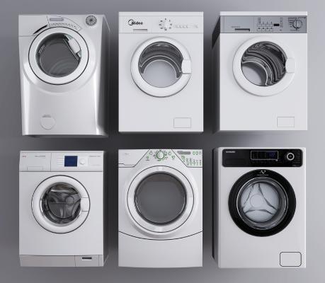 现代滚筒自动洗衣机