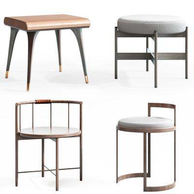 新中式凳子 椅子组合