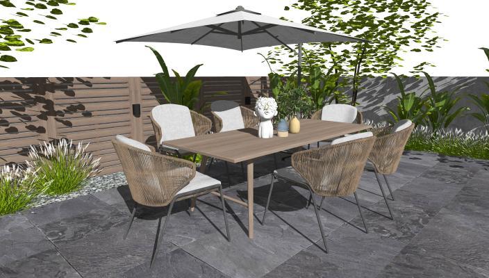 现代户外休闲桌椅 休闲椅 庭院花园