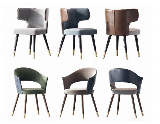 现代轻奢餐椅