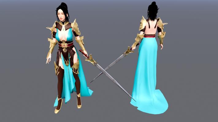 拿剑的女战士