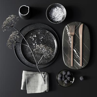 现代餐具餐盘摆件