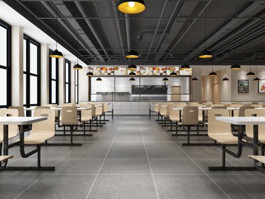 工业风食堂餐厅