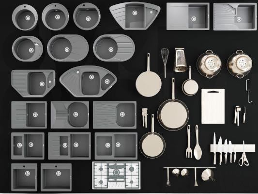 現代洗菜盆 水槽 廚房用品 刀具