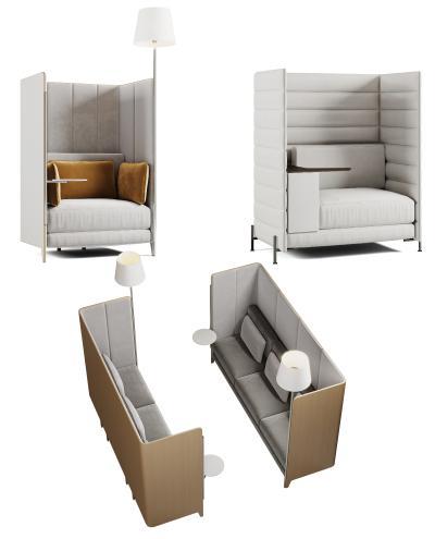 现代沙发 卡座