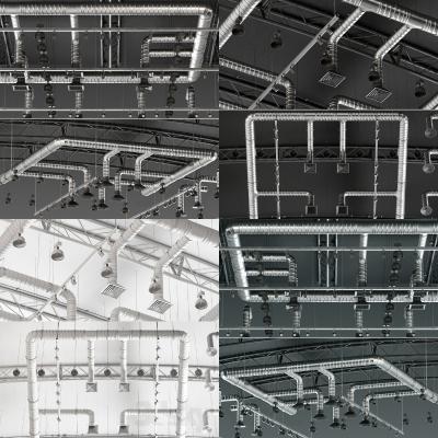 现代天花板管道