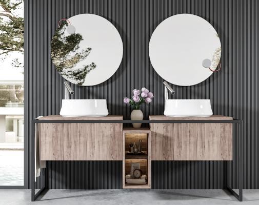 现代卫浴柜 浴室柜 洗手盆