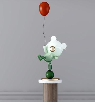 現代小熊雕塑擺件,陳設飾品