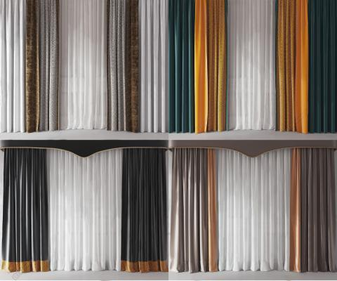 现代窗帘窗纱组合