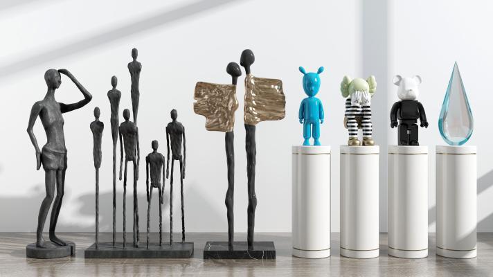 现代摆件 抽象人物 动物