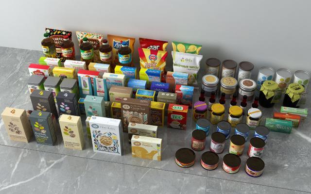 现代食品 零食 罐头