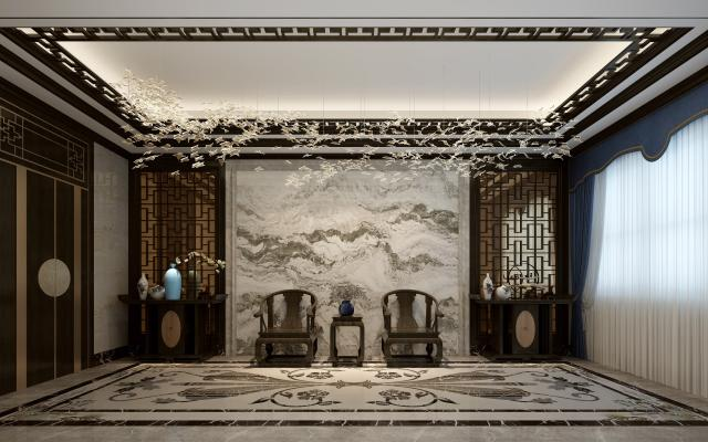 中式奢华过厅