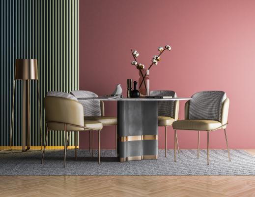 现代简约餐桌椅组合 餐桌 餐椅