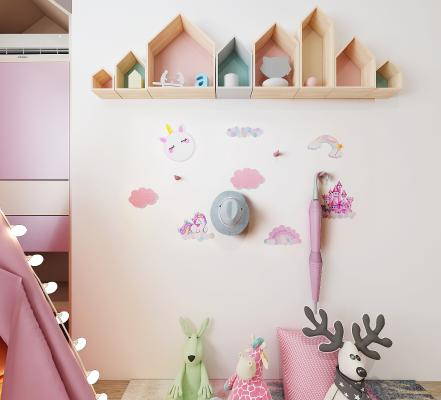 现代墙面装饰 挂钩 儿童房挂钩