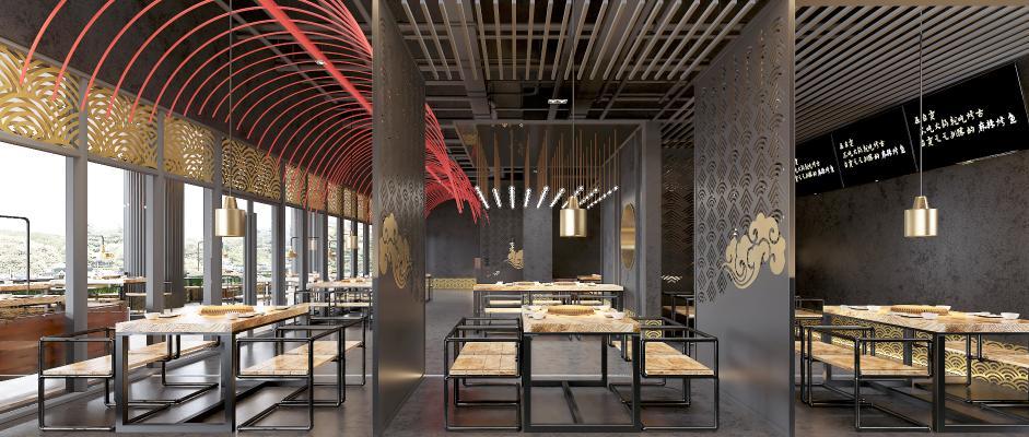 工业风火锅店 餐厅