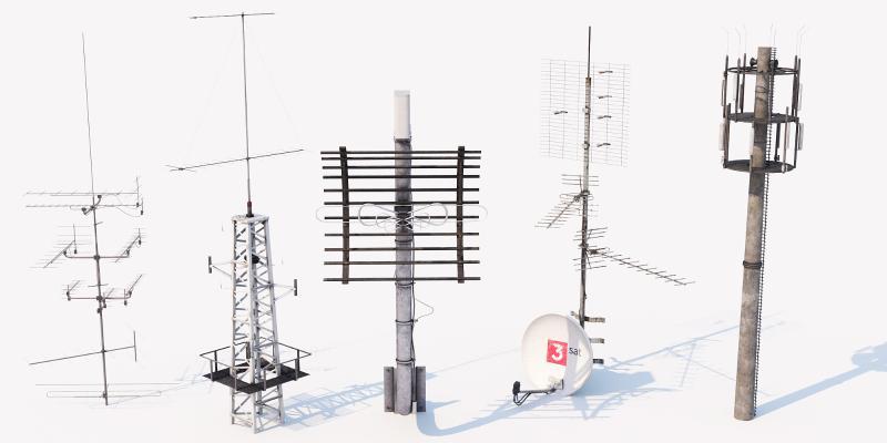 现代工业设备 信号塔 安全设施