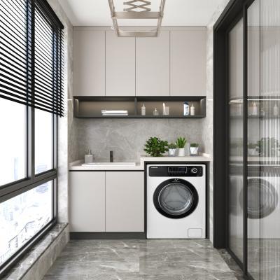 现代阳台洗衣柜