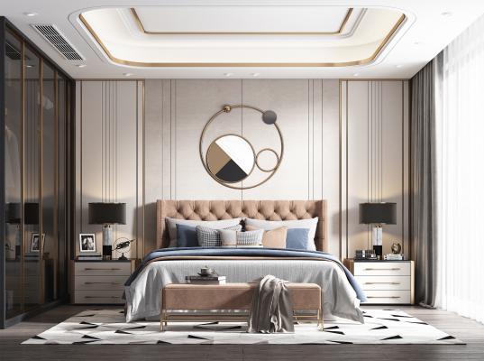 美式简约风格卧室
