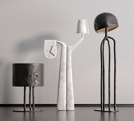现代艺术落地灯