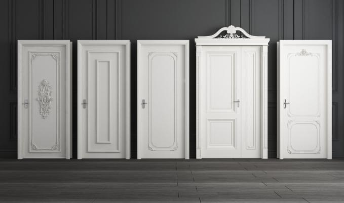 简欧房间门欧式单开实木门