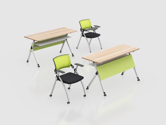 现代折叠培训桌椅 移动桌椅 培训桌椅