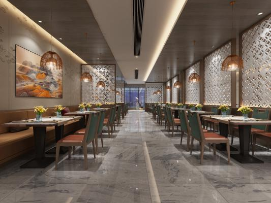 新中式酒店自助餐厅