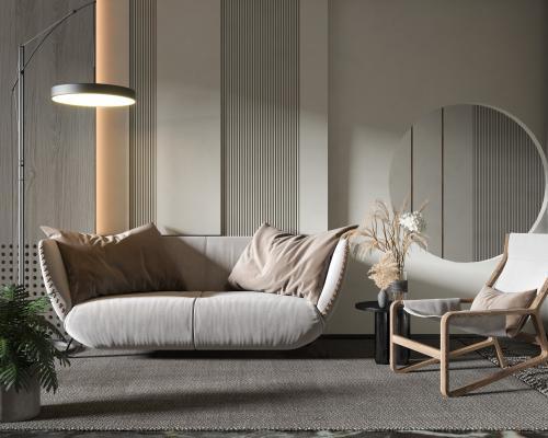 現代沙發边几组合
