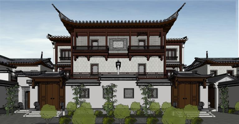 中式四合院 古建小院门头