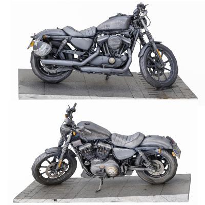 现代复古哈雷摩托车
