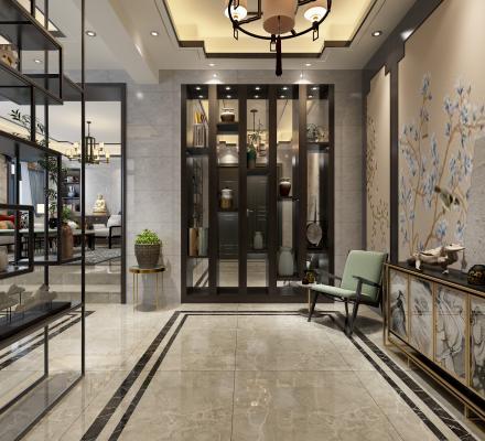 新中式玄关 门厅