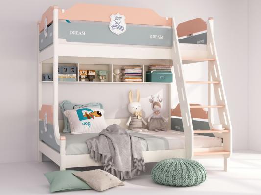 现代儿童床 双层床 高低床