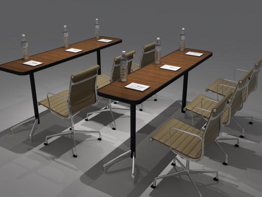 現代書桌 礦泉水