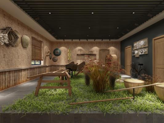 中式农贸社区 博物馆 村史馆