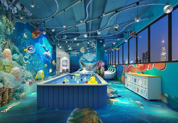现代儿童游泳馆 儿童游泳 游泳馆